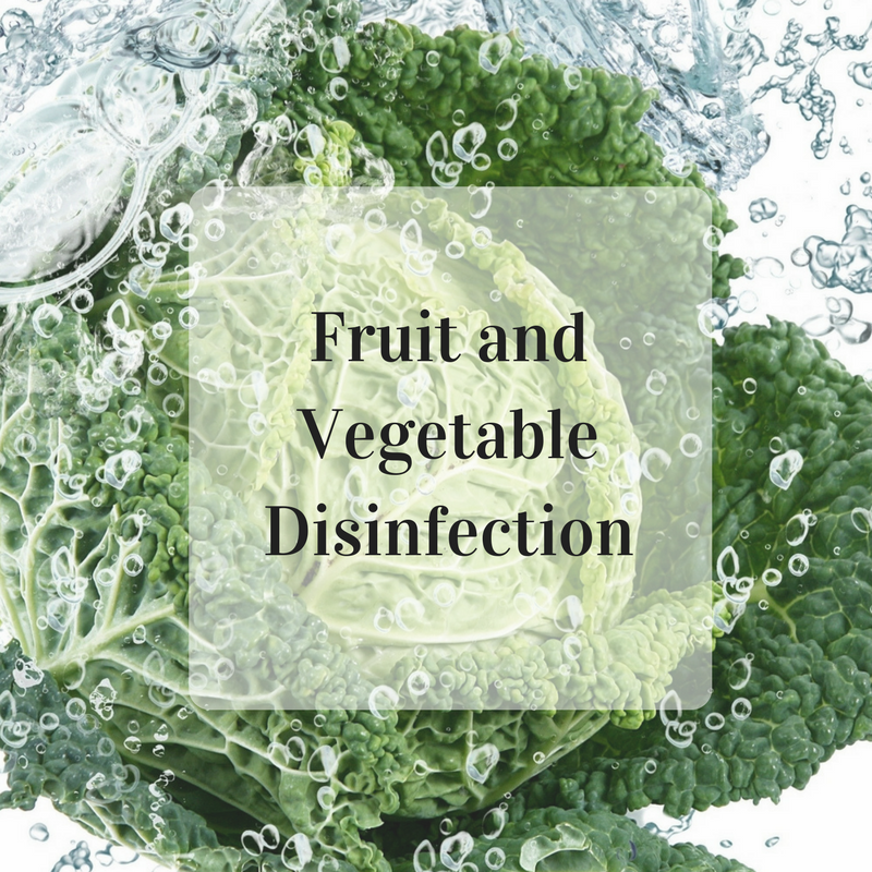 Fruit and vegetable disinfection with ESOL