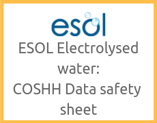 ESOL Electrolysed water COSHH data safety sheet