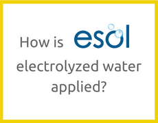 How is ESOL electrolyzed water applied