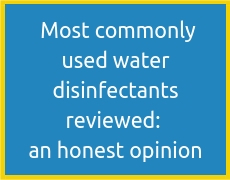 Most commonly used water disinfectants reviewed_ an honest opinion