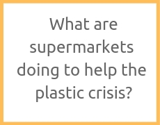 What are supermarkets doing to help the plastic crisis?