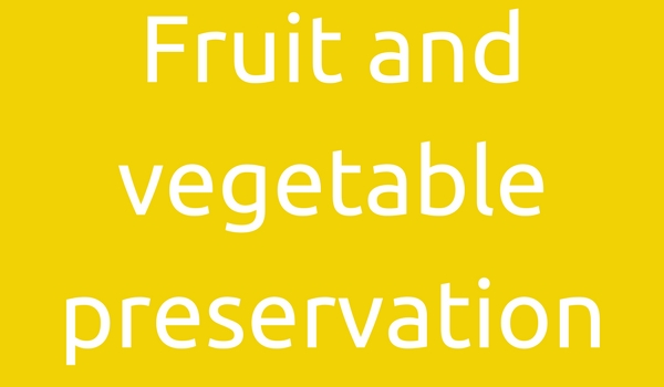 Fruit and vegetable preservation with ESOL Electrolysed Water - Can we help you?