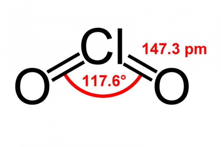 Chlorine dioxide structure
