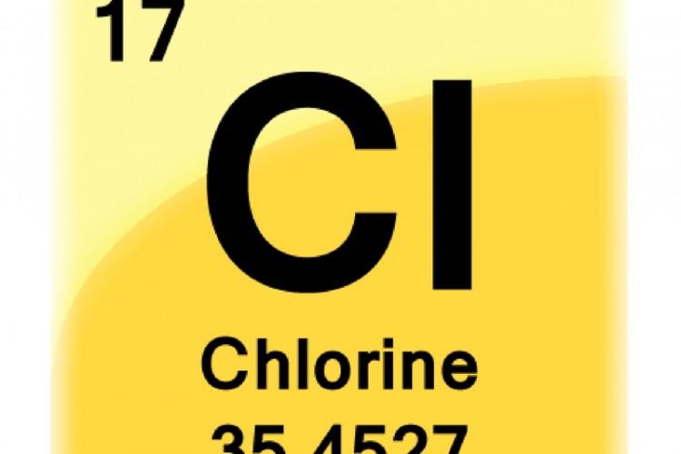 Chlorine gas CI atomic number 17