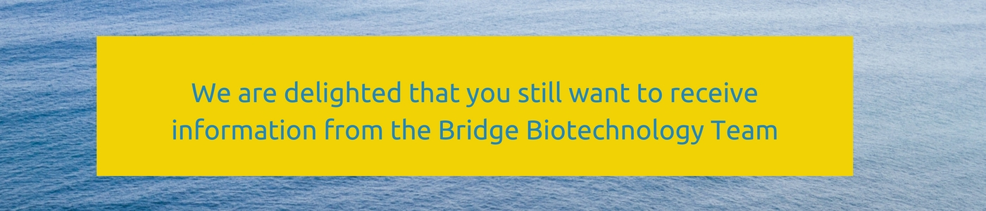 Bridge Biotechnology GDPR landing page