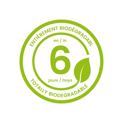 Biodegrade in 6 days