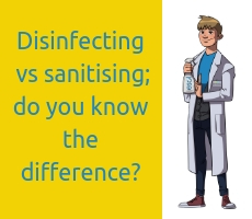 Disinfecting vs sanitising; do you know the difference_