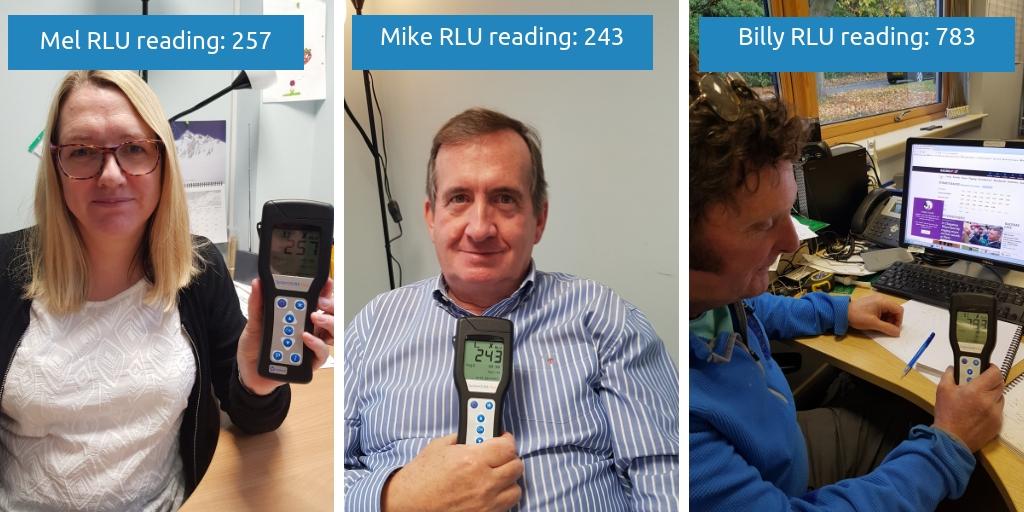 Mel, MIke and Billy keyboard RLU readings
