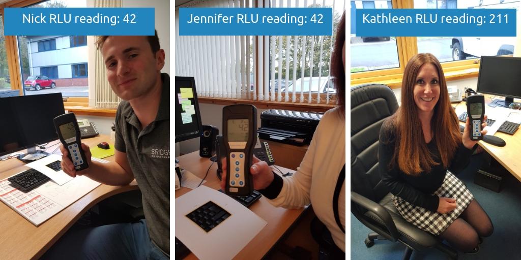 Nick Jennifer and Kathleen RLU readings from keyboard