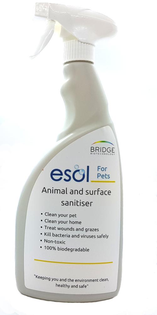 ESOL for pets santiser spray