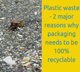 Plastic waste - 2 major reasons why packaging needs to be 100% recyclable