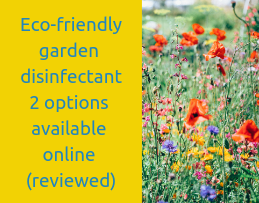 Eco-friendly garden disinfectant 2 options available online (reviewed)