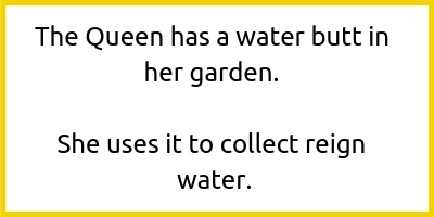 The queen has a water butt in her garden