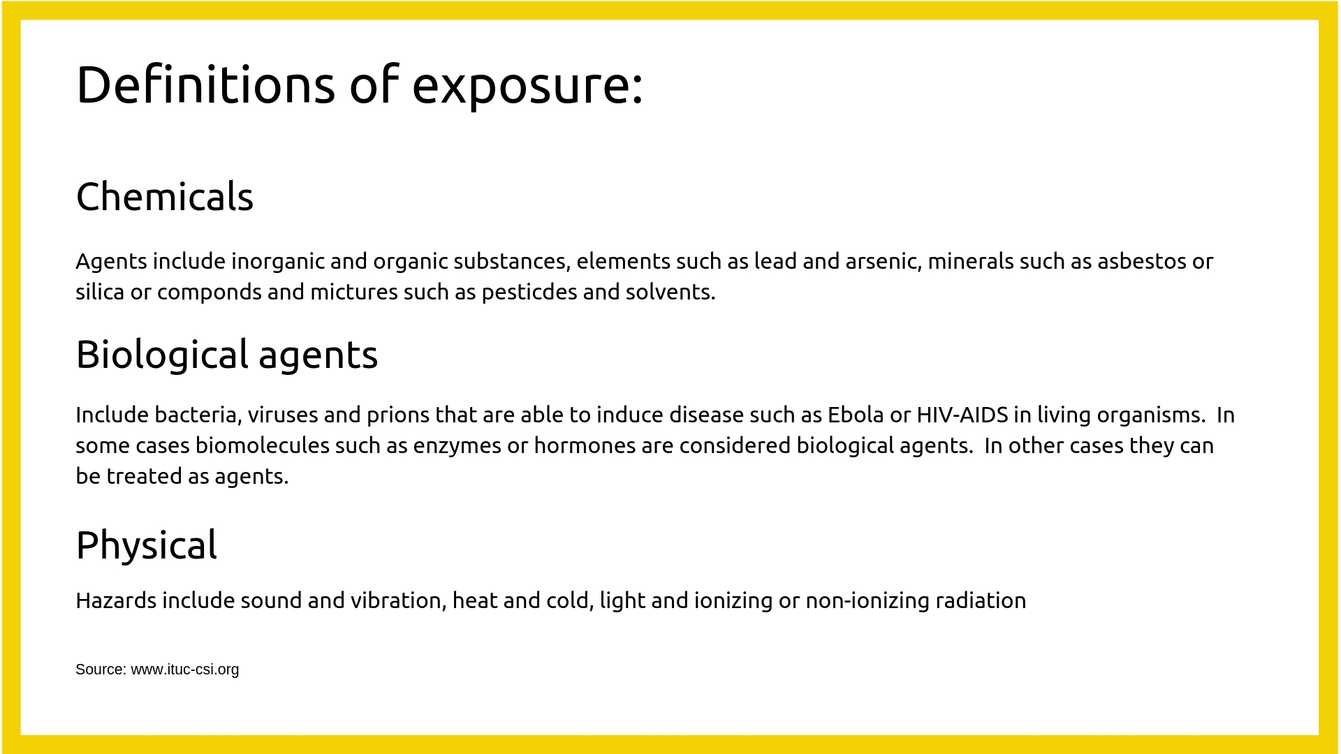 definitions of toxic exposure