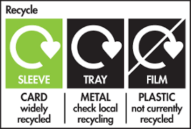 Example of mixed recycling label