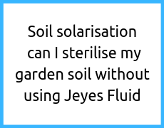 Soil solarisation – can I sterilise my garden soil without using Jeyes Fluid